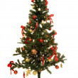 Stock Photo: Christmas tree on white