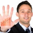 Foto de Stock  : Business growth at palm of your hand