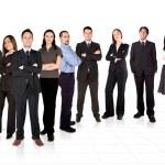 przedsiębiorcy i jego zespół biznes — Zdjęcie stockowe