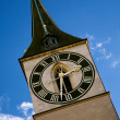 Zurich clock tower - Stock fotografie
