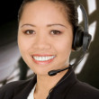 Asian business customer support — Stock Photo
