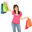Beautiful teenager with shopping bags — Stock Photo #7748839