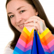 Beautiful woman with shopping bags — Stock Photo #7748848