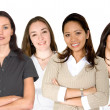 Stock Photo: Diverse female business team