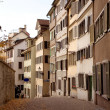 Row of zurich apartments - Stock Photo