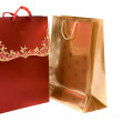 Christmas shopping bags — Stock Photo
