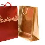 Christmas shopping bags — Stock Photo