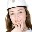 Female architect portrait — Stock Photo