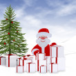 Royalty-Free Stock Photo: Christmas card - 3d illustration