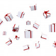 Stock Photo: Gifts falling down