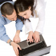Students on laptop — Stock Photo #7748956