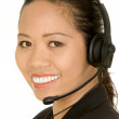 Asian customer service girl — Stock Photo