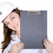 Friendly female architect — Stock Photo