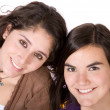 Beautiful female friends smiling — Stock Photo