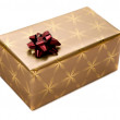 Royalty-Free Stock Photo: Golden gift isolated