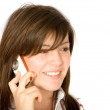 Beautiful girl talking on the phone — Stock Photo #7749042