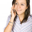 Girl on the phone — Stockfoto