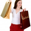 Casual girl shopping — Stockfoto