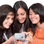 Girls sharing their photos — Stock Photo #7749082