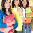 Girls shopping out — Stock Photo