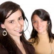 Beautiful customer service advisors — Stock Photo