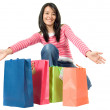 Here is all my shopping - Stock Photo