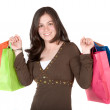 Beautiful girl with shopping bags — Stock Photo #7749109