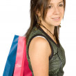 Beautiful girl with shopping bags — Stock Photo #7749110