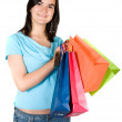 Beautiful girl with shopping bags — Stock Photo #7749112