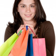 Beautiful girl with shopping bags — Stock Photo #7749115