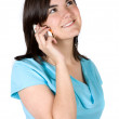 Beautiful girl on a cellphone — Stock Photo