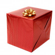 Red gift on white — Foto Stock