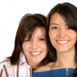 Sisters smiling — Stock Photo