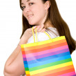 Beautiful woman with shopping bags — Stockfoto