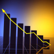 Business statistics graph — Stock Photo