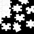 Stock Photo: Black and white puzzle
