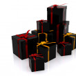 Black gifts — Stock Photo