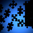 Puzzle silhouette — Stock Photo