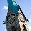 Clock tower in zurich — Stock Photo
