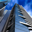 Corporate buildings in perspective — Stock Photo