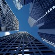 Corporate buildings in perspective — Stock Photo #7749251