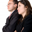 Business partners full of expectations - Stock Photo