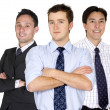 Confident male business team — Stock Photo
