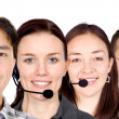 Stock Photo: Customer service team