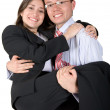 Stock Photo: Happy business couple