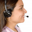 Beautiful Business Customer Support Girl — Stock Photo