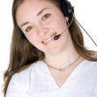 Customer service woman smiling — Stock Photo