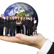 Foto Stock: Business team work worldwide