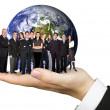 lavoro di squadra di affari nel mondo — Foto Stock