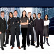 Business team in a corporate environment — Stock Photo